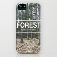 Forest: Nature at Your Service iPhone Case by Caleb Troy
