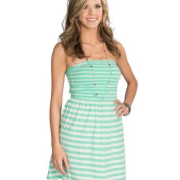 Ocean Drive Women's Mint Stripe Bow Back Dress