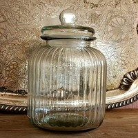 Antique Apothecary Style Glass Storage Jar