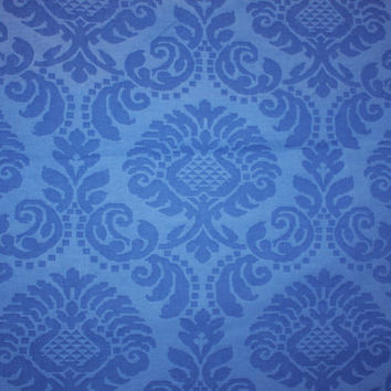 Designer Fabric Cobalt Blue Damask