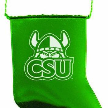 Cleveland State University - Chirstmas Holiday Stocking Ornament - Green