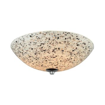 10740/3 Spatter 3 Light Flush In Polished Chrome With Spatter Mosaic Glass - Free Shipping!