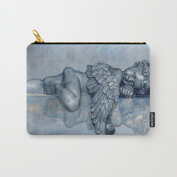 Sleeping Angel Carry-All Pouch by Theresa Campbell D'August Art