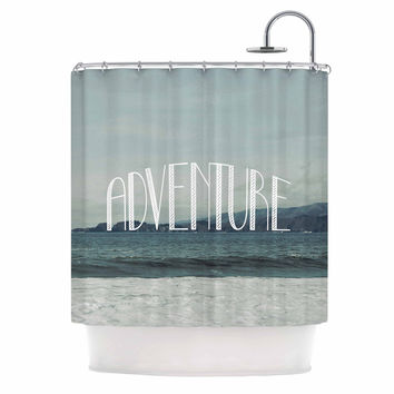 "Chelsea Victoria ""Adventure"" Blue Photography Shower Curtain"