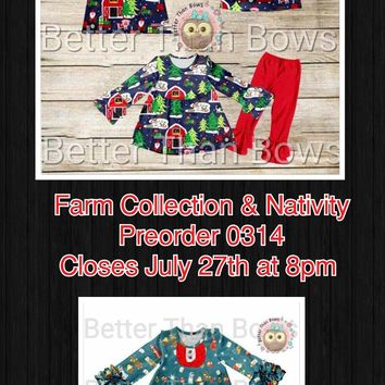 Farm Collection & Nativity*Preorder 0314*Closes: July 27th at 8pm