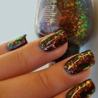 KLEANCOLOR Nail Lacquer - Chunky Holo Black 236