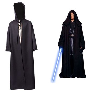 Kids Star Wars Anakin Skywalker Black Cloak Jedi Robe Cosplay Costume Child For Boy Version Free Shipping