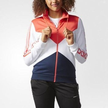 Adidas Casual Sport Long Sleeve Cardigan Jacket Coat