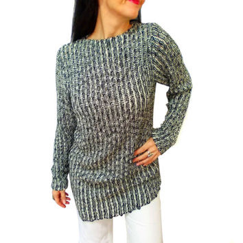 Grey Ladies Tunic Sweater Dress, Knitting Long Plus, Medium and Large size, High Fashion Top Wear Girly, Pregnant top