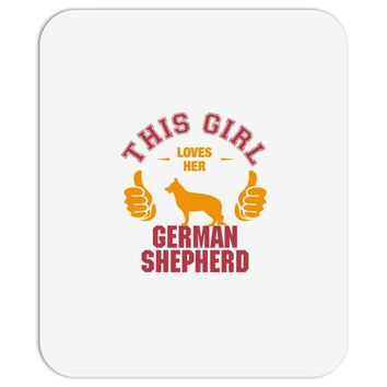This Girl Loves Her German Shepherd Mousepad