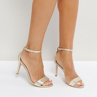 ALDO Camy Gold Heeled Sandals at asos.com
