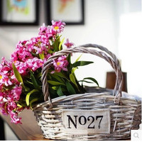 Vintage Weathered Alphabet Storage Basket [6283511238]