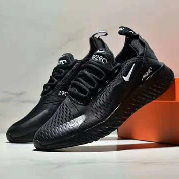 NIKE AIR MAX 270 winter new air cushion shock absorption casual shoes Black