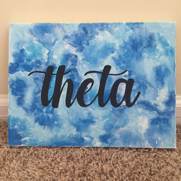 Watercolor Kappa Alpha Theta Canvas