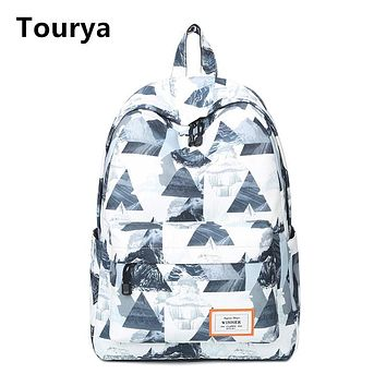 Tourya Casual Women Backpack School Backpacks Bags Bookbag for Teenagers Girls Laptop Backbag Travel Daypack Mochila Feminina