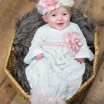 2018 Fall Haute Baby Fairy Frost Infant Take Me Home Gown Pre-Order