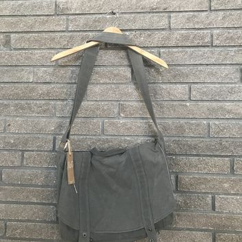 Moop Canvas Messenger No. 3 Gray Bag