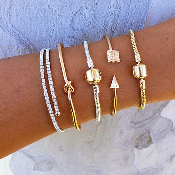 Knot & Arrow Bracelet Set