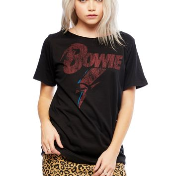 David Bowie Criss Cross Back Band Tee by Recycled Karma