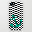 Mint Leopard Anchor iPhone Case by M Studio - Available for iPhone 3G, 3GS, 4, 4S, and 5