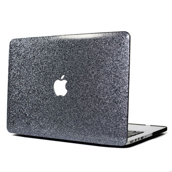 SPACE GRAY- Glitter Macbook Hard Case for Macbook Air,  Macbook Pro, + Macbook Pro with Retina Display (SMOOTH)