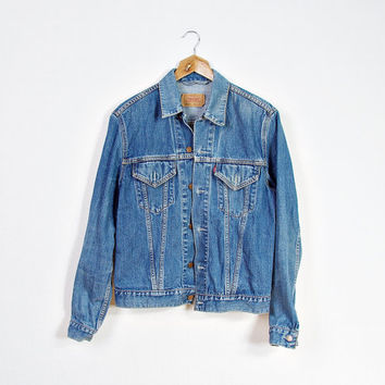 Vintage LEVI'S 70500 Denim Jacket / Levi's Strauss Trucker Outerwear / Women Size L