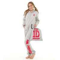 One Direction Grey and Red Heavyweight Onesuit