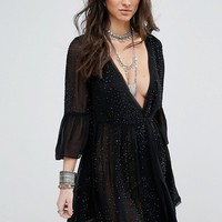 Free People Winter Solstice Embellished Party Dress at asos.com