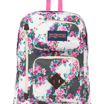 Jansport Austin Backpack, Multi Grey Floral Flourish