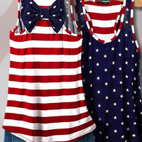 American Flag Tank Top, Navy