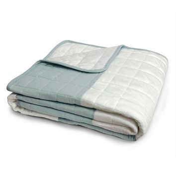 Lush Decor Berlin Quilted Throw (Blue)