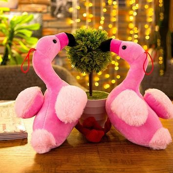 Pink Flamingo Cute Teeth Cleaning Pet Toy