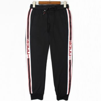 GUCCI 2018 youth fashion sweatpants new casual pants men's pants F0498-1