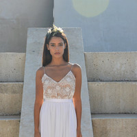 Lace wedding dress, boho lace wedding dress, simple wedding dress