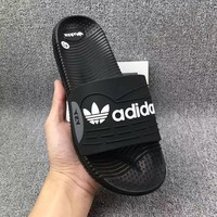 Adidas: casual fashion men's slippers Black