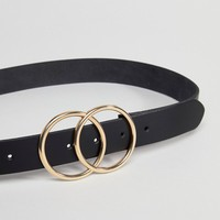 ASOS Leather Double Circle Waist and Hip Belt at asos.com