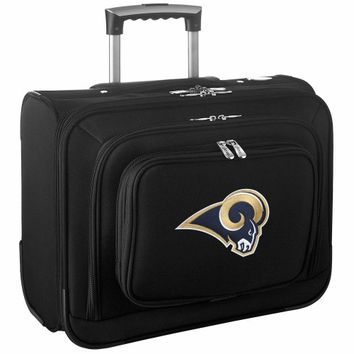 St. Louis Rams Carry-On Rolling Laptop Bag - Black - http://www.shareasale.com/m-pr.cfm?merchantID=7124&userID=1042934&productID=540325962 / St. Louis Rams