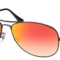 Cheap Ray-Ban RB 3362 002/4W Cockpit Black Sunglasses Red Gradient Mirror Lens 59mm outlet