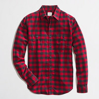 Factory flannel workshirt in plaid
