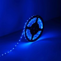 LE 16.4ft/5m Flexible LED Light Strips, 300 Units SMD 3528 LEDs, 12V DC LED Strip Lights, Blue, Non-waterproof, Lighting Strips, LED Tape for Gardens/Homes/Kitchen/Cars/Bar/DIY Party