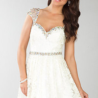 Cap Sleeve Short Dress by Dave and Johnny