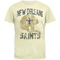 New Orleans Saints - Distressed Helmet Soft T-Shirt