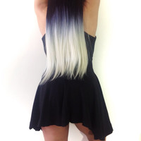 "22"" Black Ombre Clip In Hair Extension"