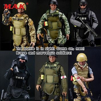 Collection 1/6 SWAT SDU SEALs Uniform Military Army Combat Game Toys Soldier Set with Retail Box Action Figure hot Model toys