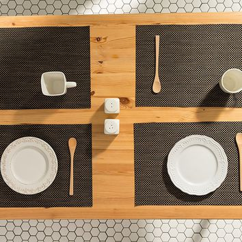 Espresso Woven Table Placemats