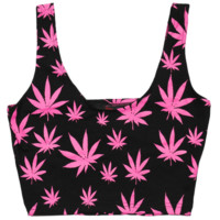 BARBIE WEED CROP TOP