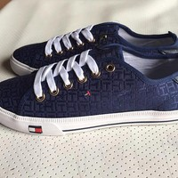 Tommy Hilfiger Fashion Canvas Flats Sneakers Sport Shoes
