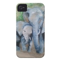Elephants- Mother and Baby