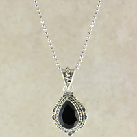 Diva Gemstone Pendant Necklace in Sterling Silver