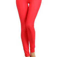 Ladies Fashion Red Color Skinny Jegging